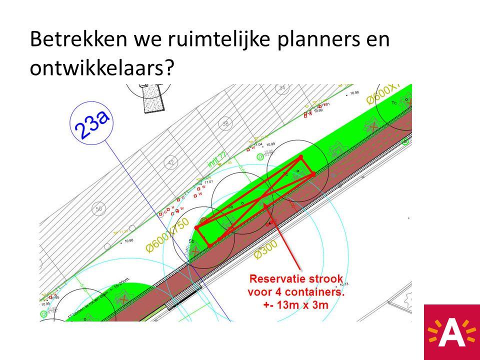 Betrekken we ruimtelijke planners en ontwikkelaars