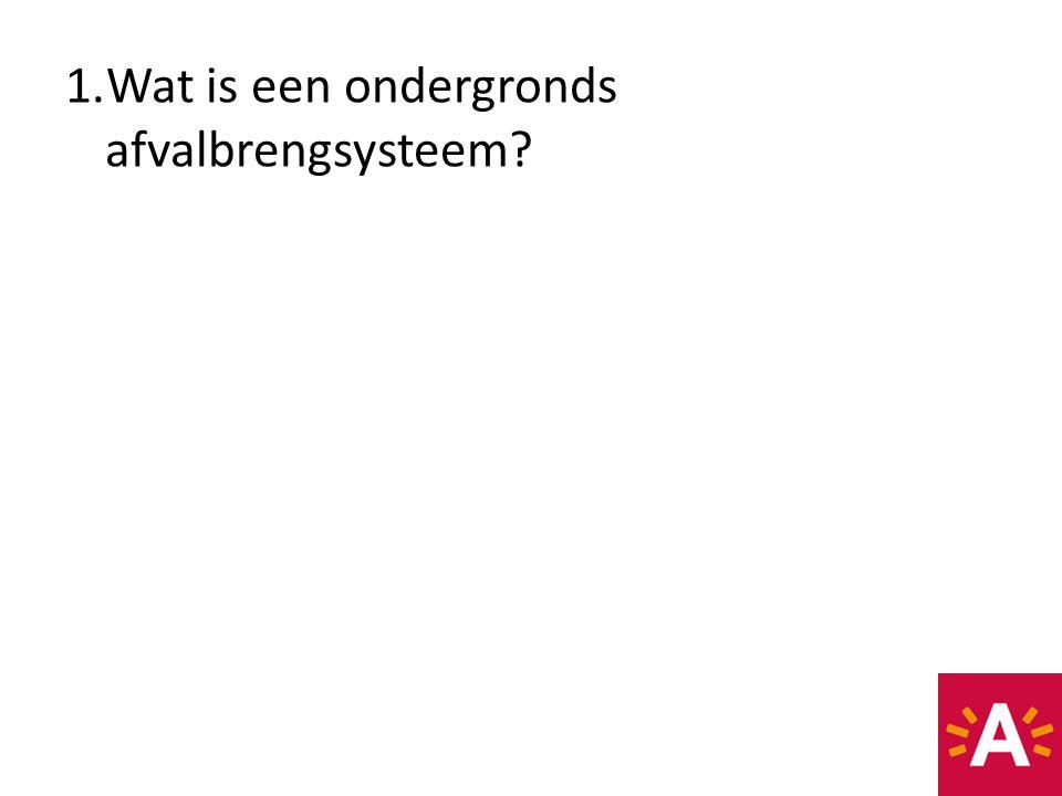 Wat is een ondergronds afvalbrengsysteem