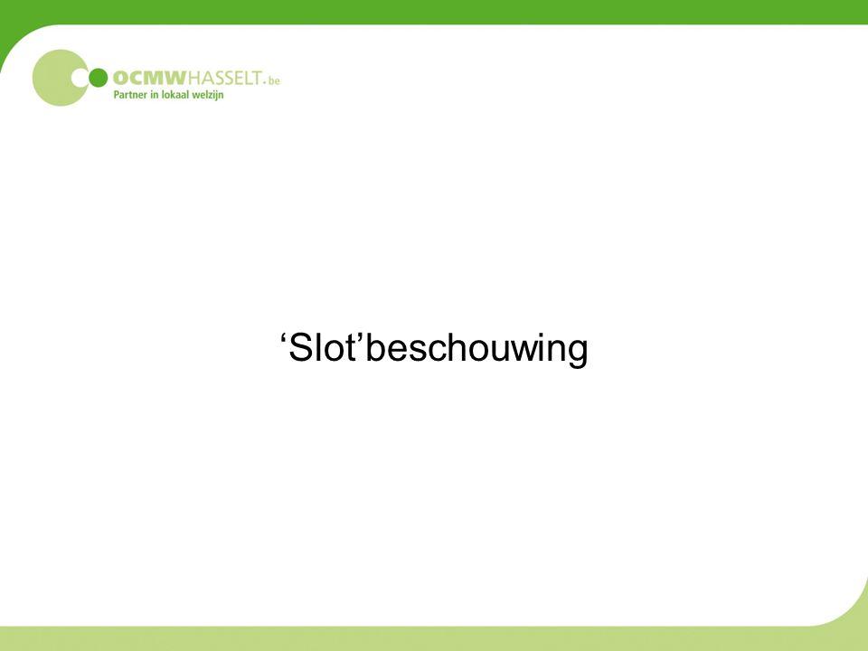 'Slot'beschouwing