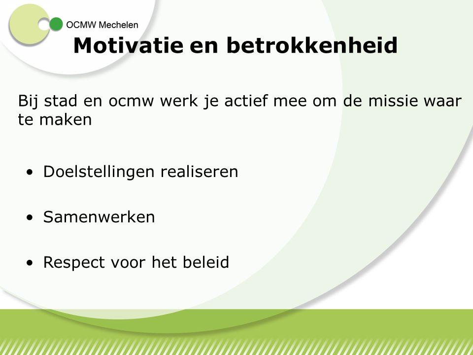 Motivatie en betrokkenheid