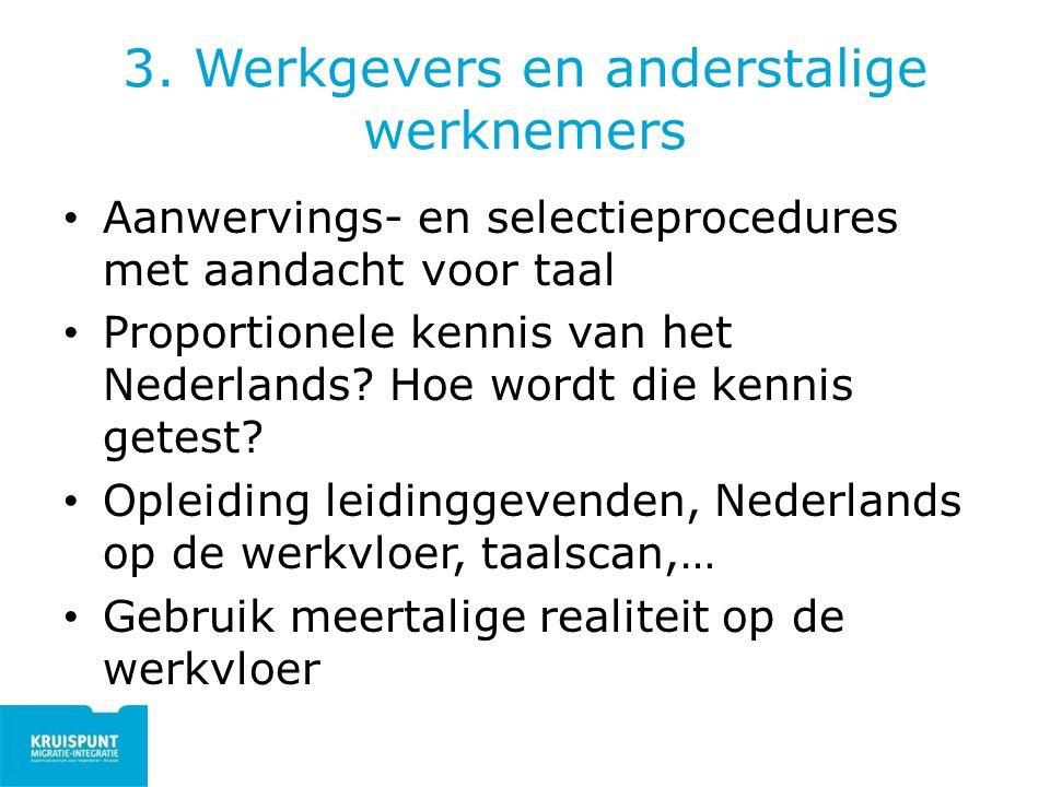 3. Werkgevers en anderstalige werknemers
