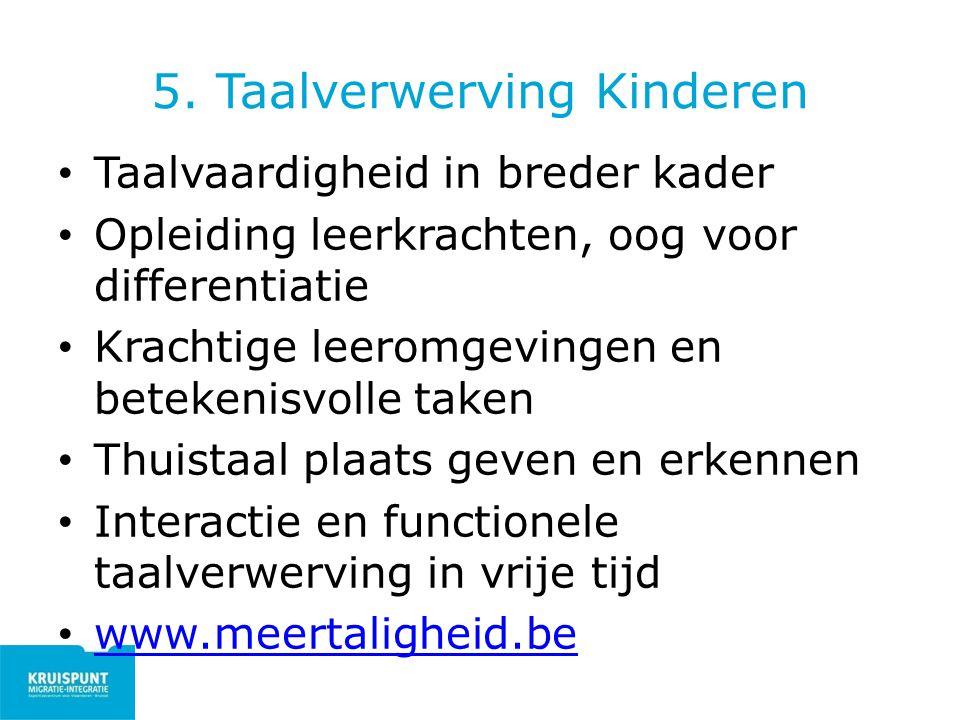 5. Taalverwerving Kinderen