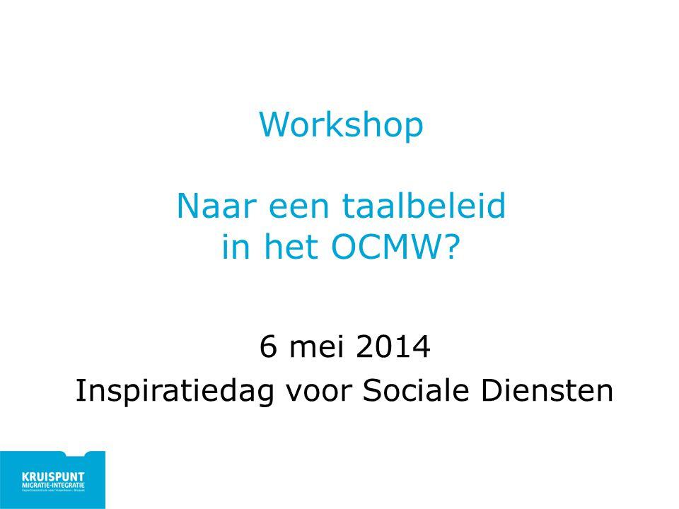 Workshop Naar een taalbeleid in het OCMW