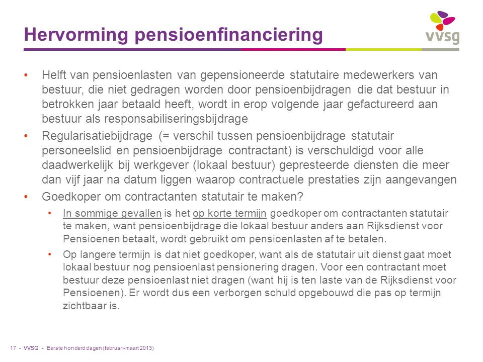 Hervorming pensioenfinanciering