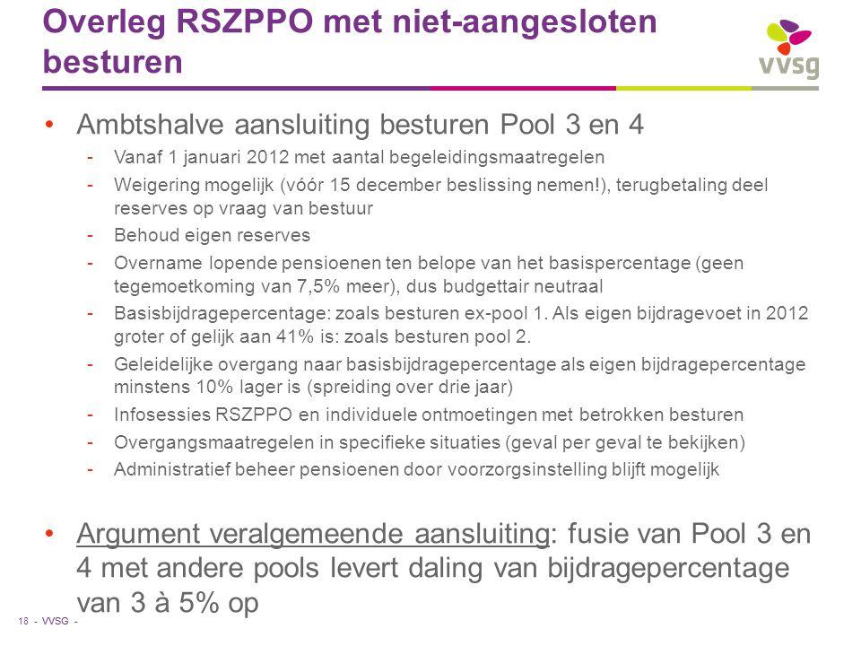 Overleg RSZPPO met niet-aangesloten besturen