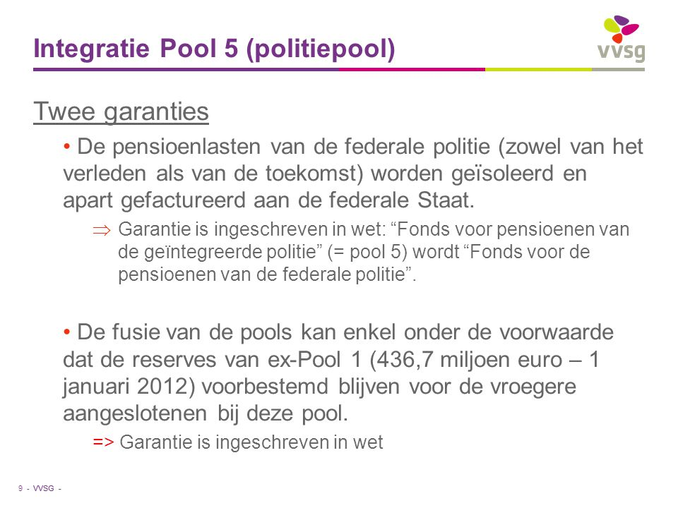 Integratie Pool 5 (politiepool)