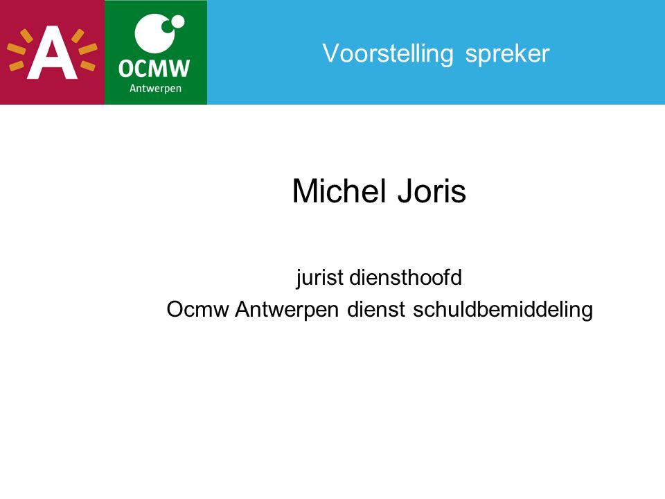 Ocmw Antwerpen dienst schuldbemiddeling