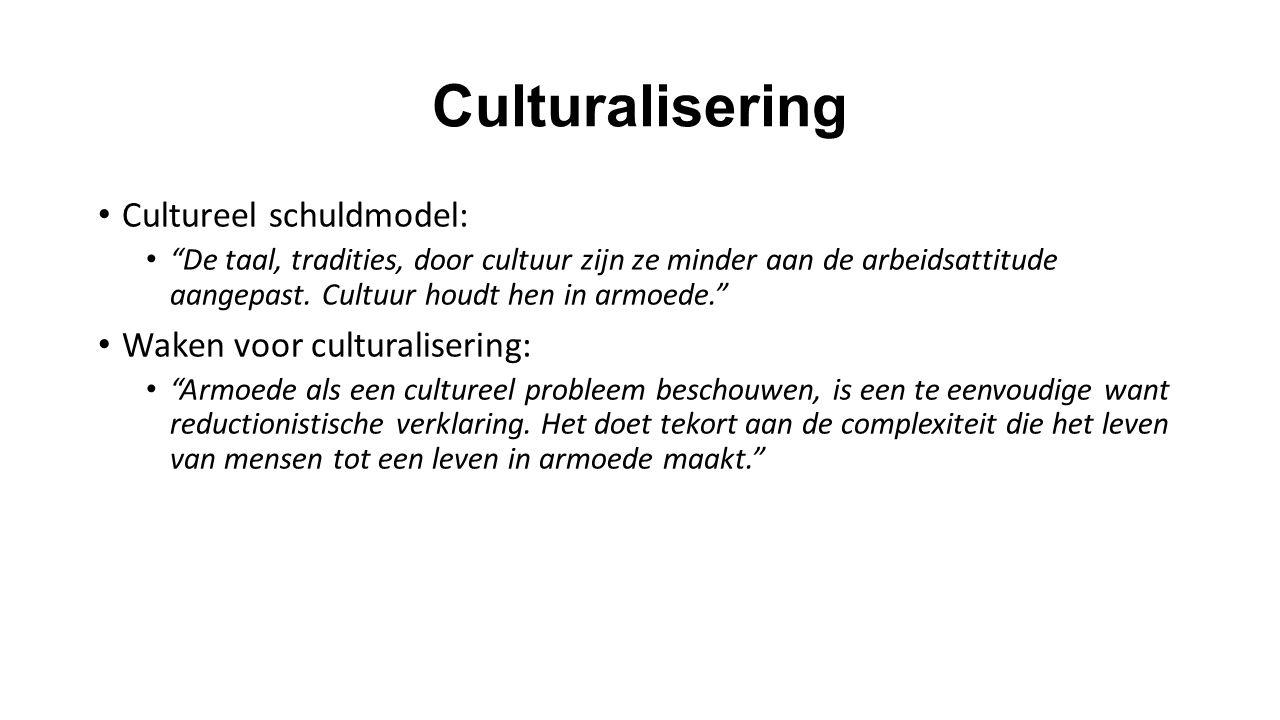 Culturalisering Cultureel schuldmodel: Waken voor culturalisering: