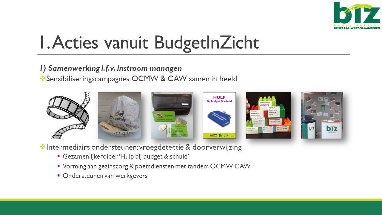 1. Acties vanuit BudgetInZicht