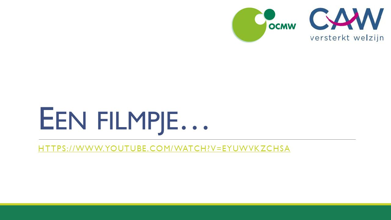 Een filmpje… https://www.youtube.com/watch v=eyuWVKZchSA