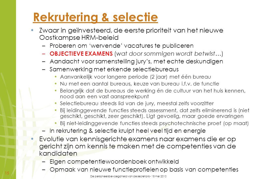 Rekrutering & selectie