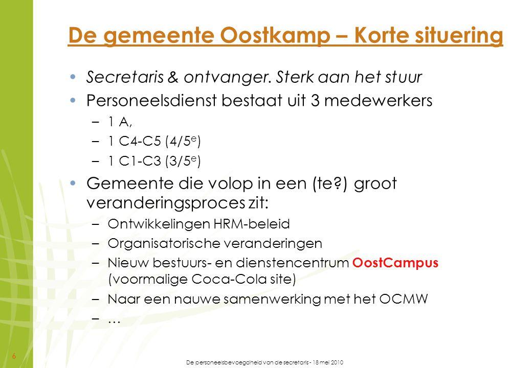 De gemeente Oostkamp – Korte situering