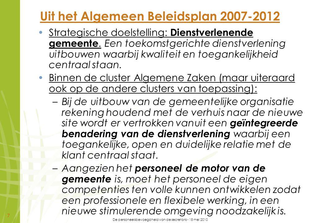 Uit het Algemeen Beleidsplan 2007-2012