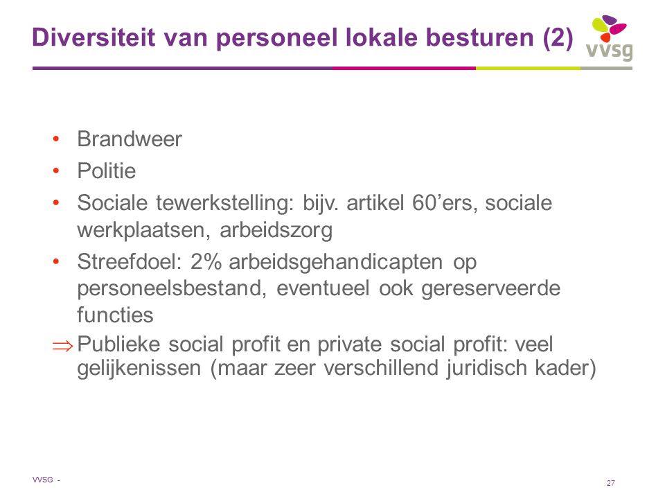 Diversiteit van personeel lokale besturen (2)