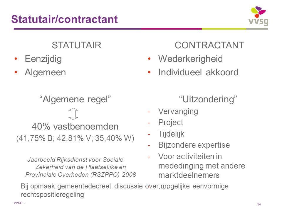 Statutair/contractant