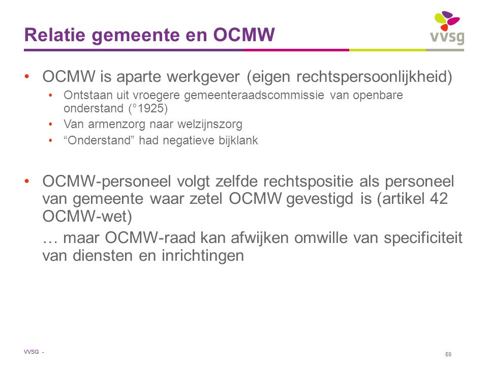 Relatie gemeente en OCMW