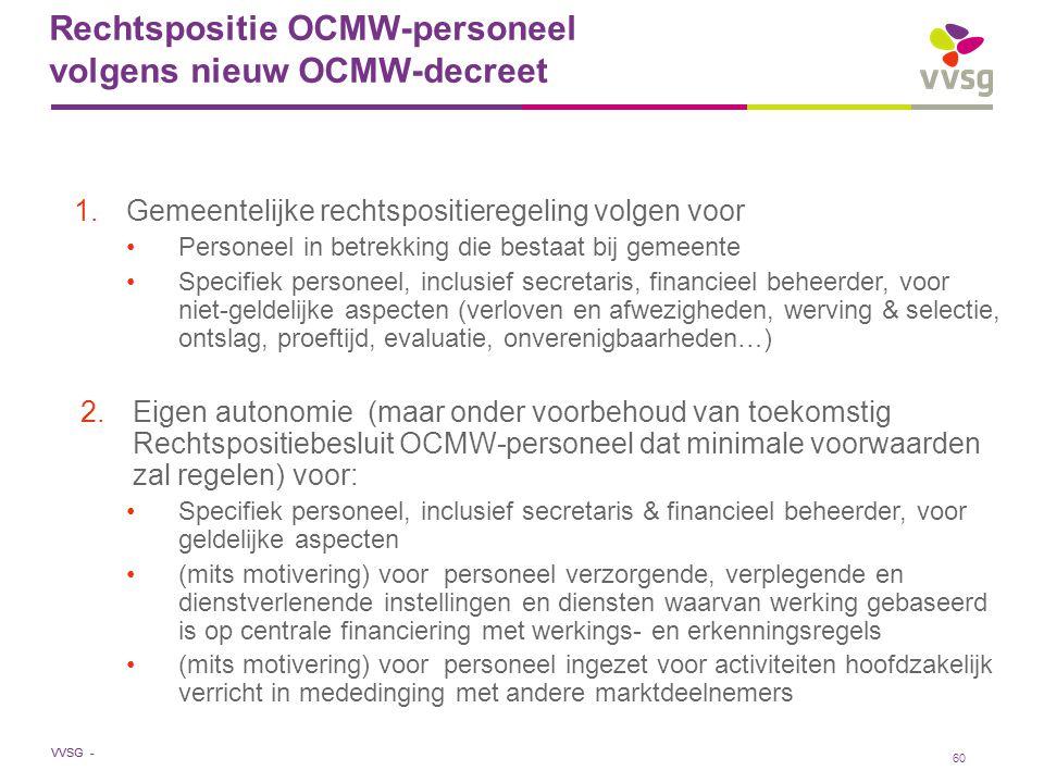 Rechtspositie OCMW-personeel volgens nieuw OCMW-decreet