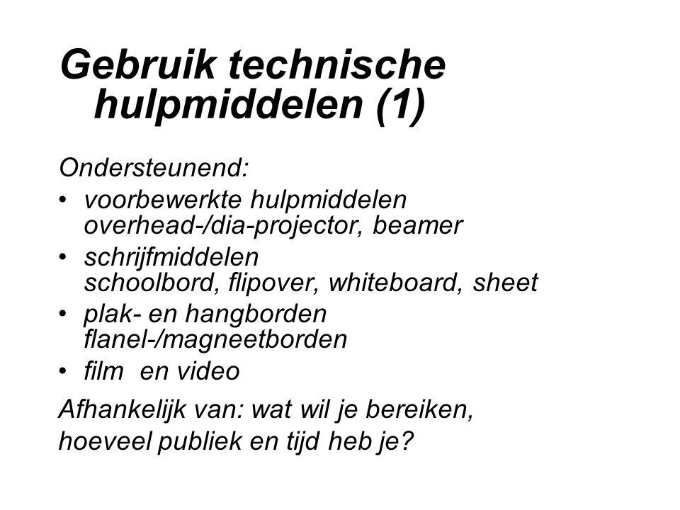 Gebruik technische hulpmiddelen (1)