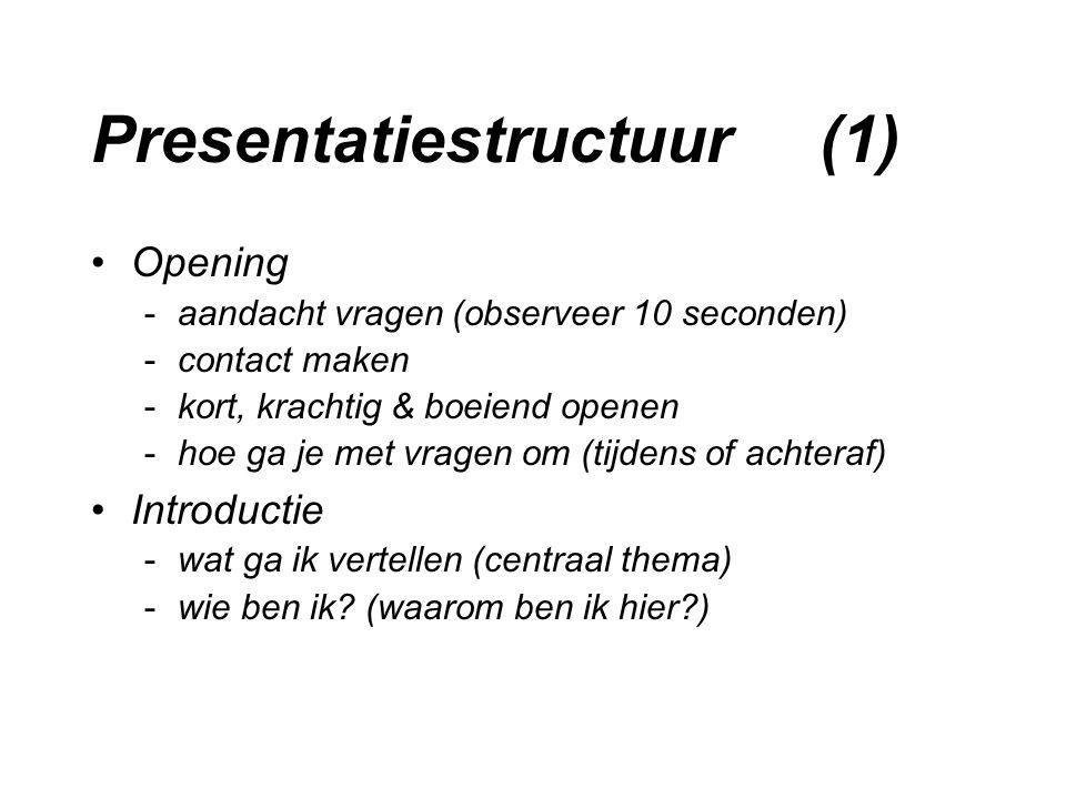 Presentatiestructuur (1)