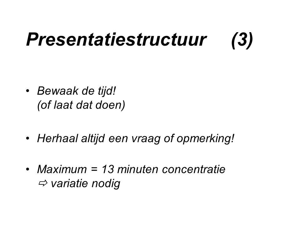Presentatiestructuur (3)