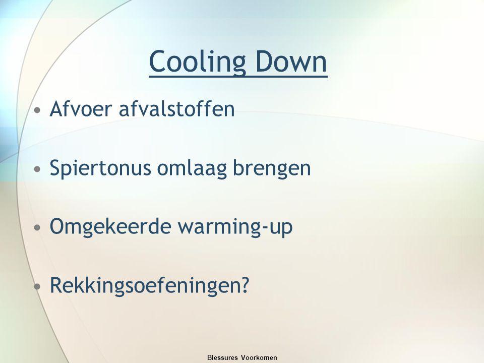 Cooling Down Afvoer afvalstoffen Spiertonus omlaag brengen