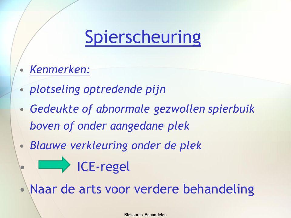 Spierscheuring ICE-regel Naar de arts voor verdere behandeling