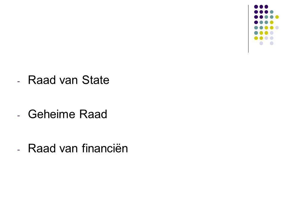 Raad van State Geheime Raad Raad van financiën