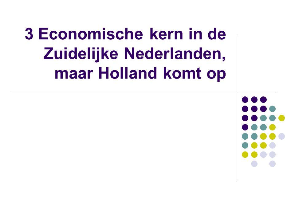 3 Economische kern in de Zuidelijke Nederlanden, maar Holland komt op
