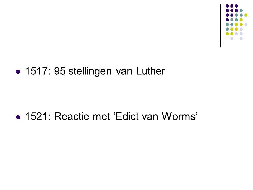1517: 95 stellingen van Luther