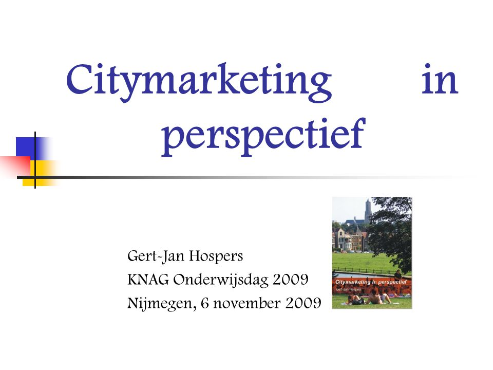 Citymarketing in perspectief
