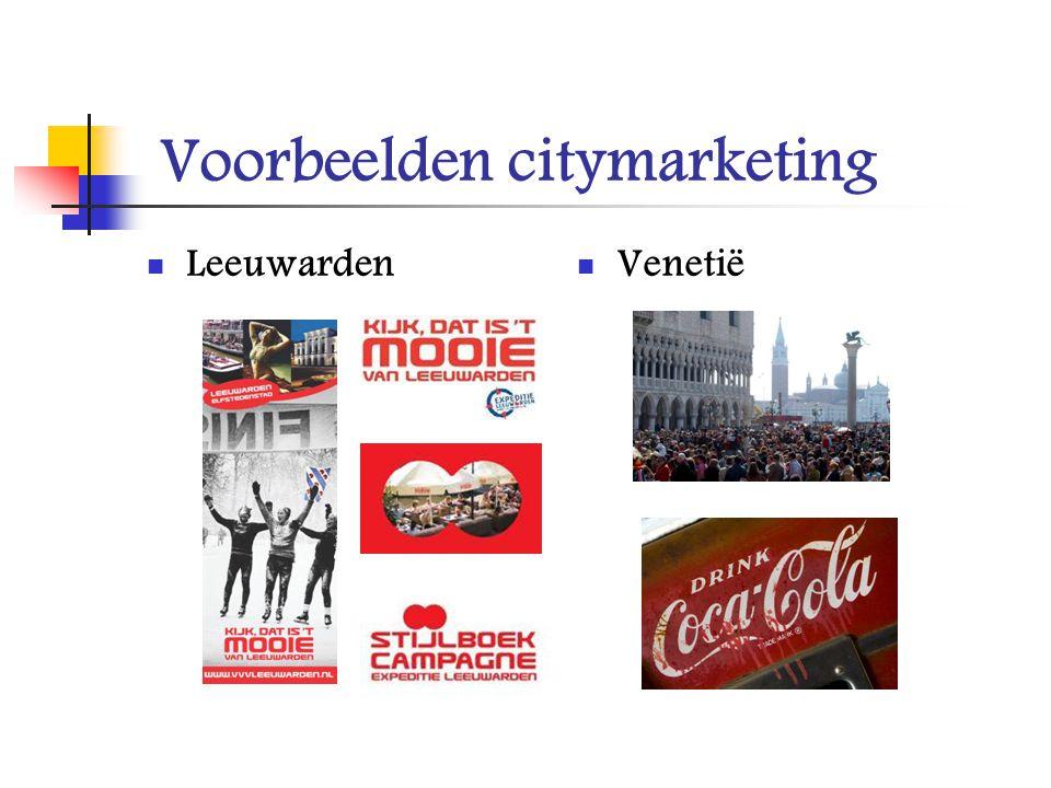 Voorbeelden citymarketing