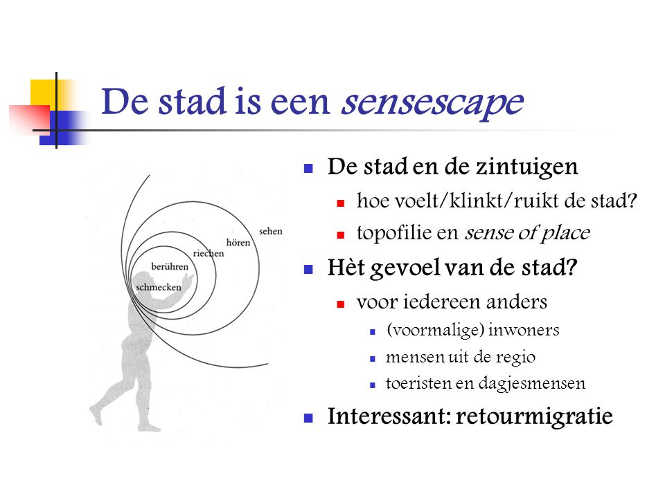 De stad is een sensescape