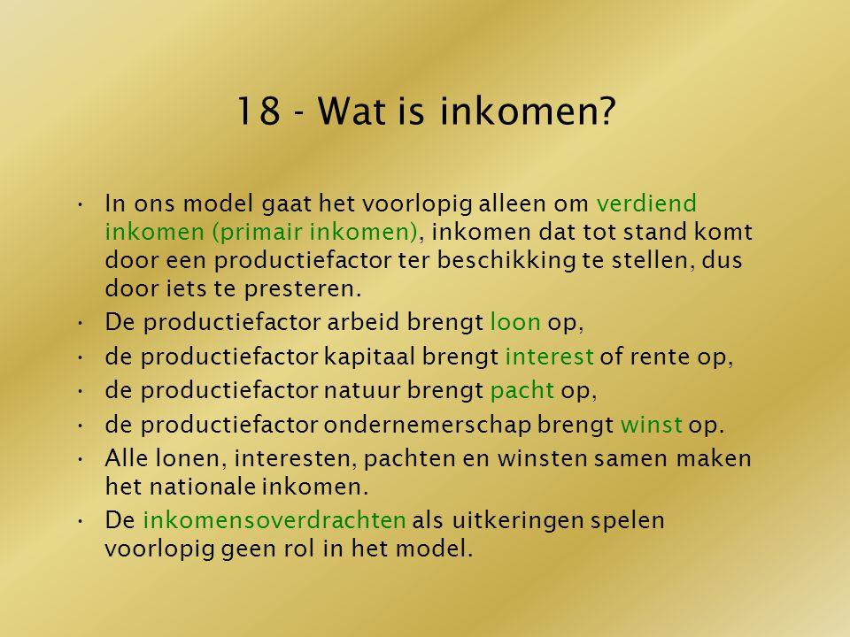 18 - Wat is inkomen