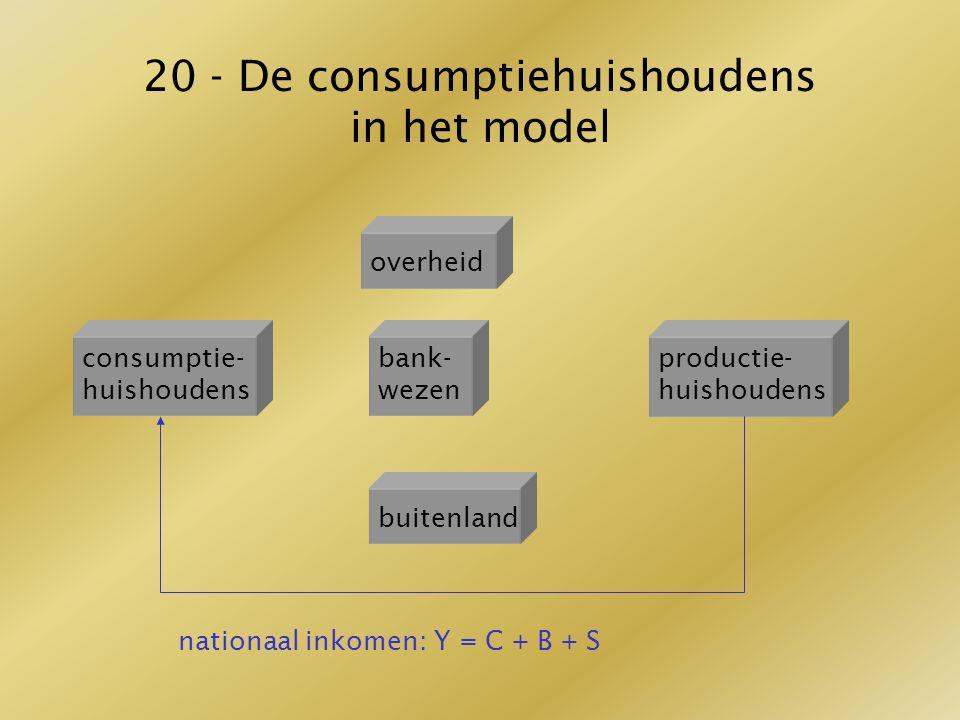 20 - De consumptiehuishoudens in het model
