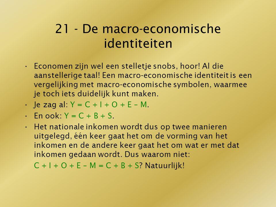 21 - De macro-economische identiteiten