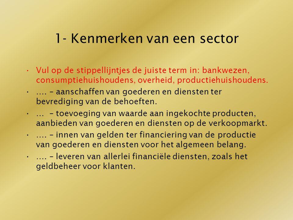 1- Kenmerken van een sector