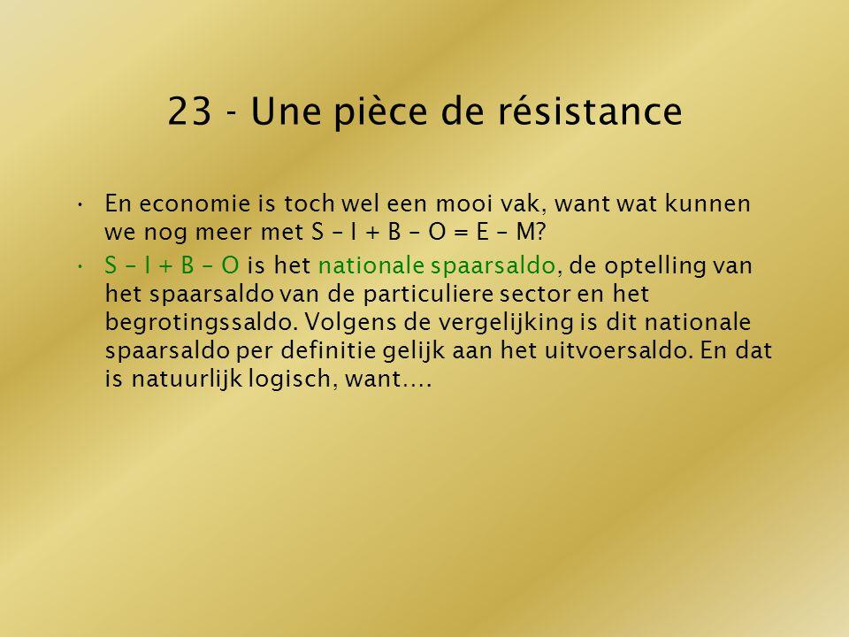 23 - Une pièce de résistance