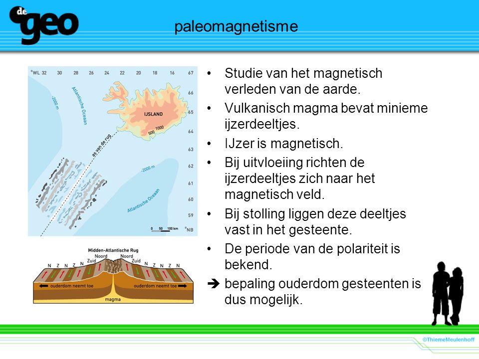 paleomagnetisme Studie van het magnetisch verleden van de aarde.