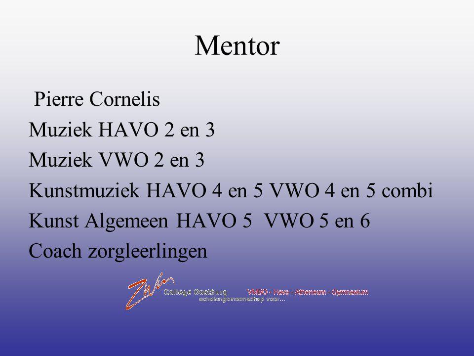 Mentor Pierre Cornelis Muziek HAVO 2 en 3 Muziek VWO 2 en 3