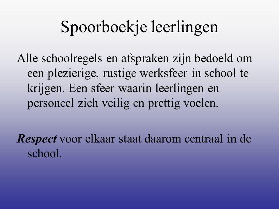 Spoorboekje leerlingen