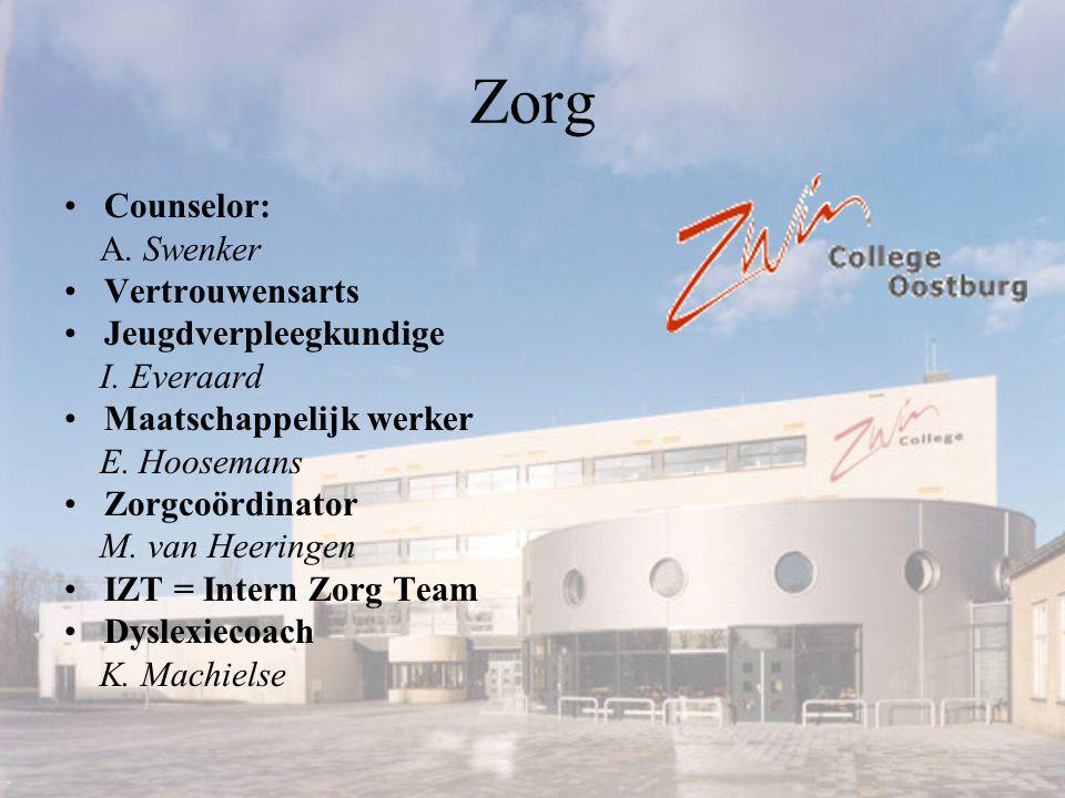 Zorg Counselor: A. Swenker Vertrouwensarts Jeugdverpleegkundige