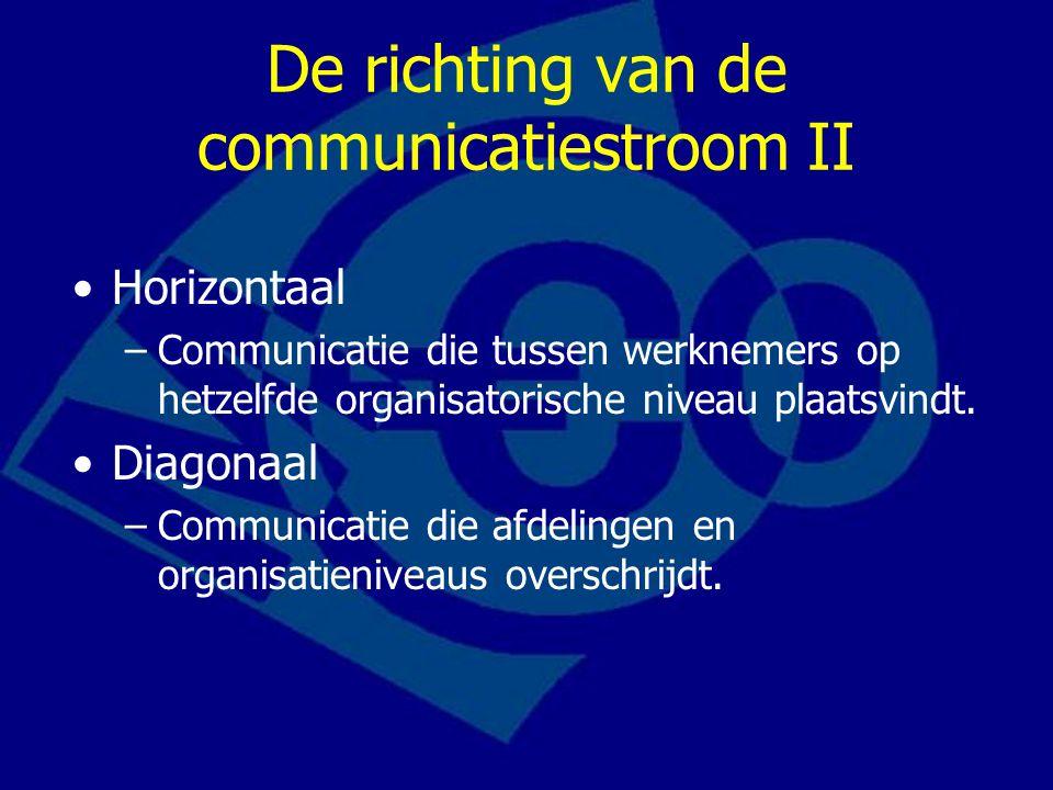 De richting van de communicatiestroom II