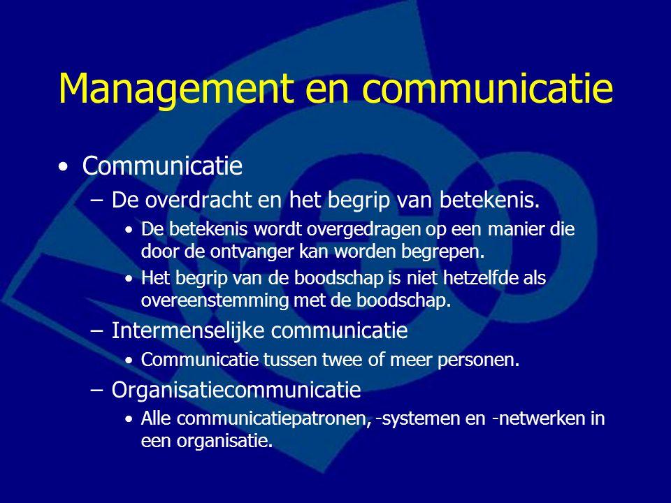 Management en communicatie