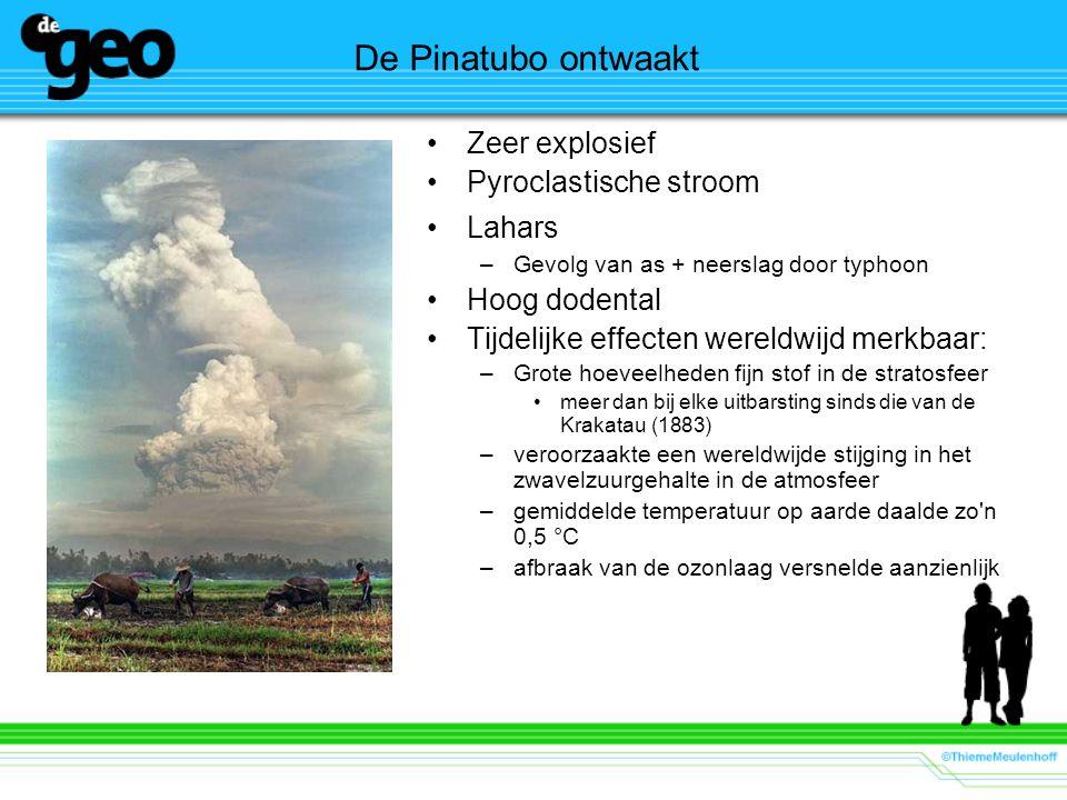 De Pinatubo ontwaakt Zeer explosief Pyroclastische stroom Lahars