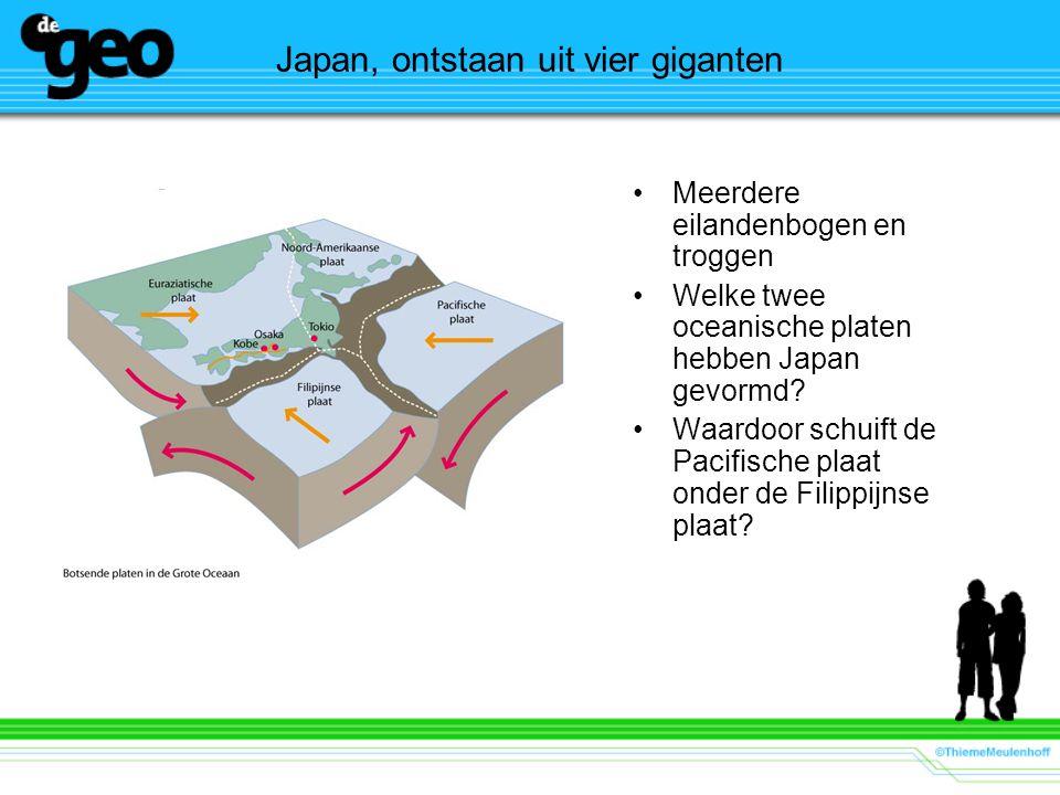 Japan, ontstaan uit vier giganten