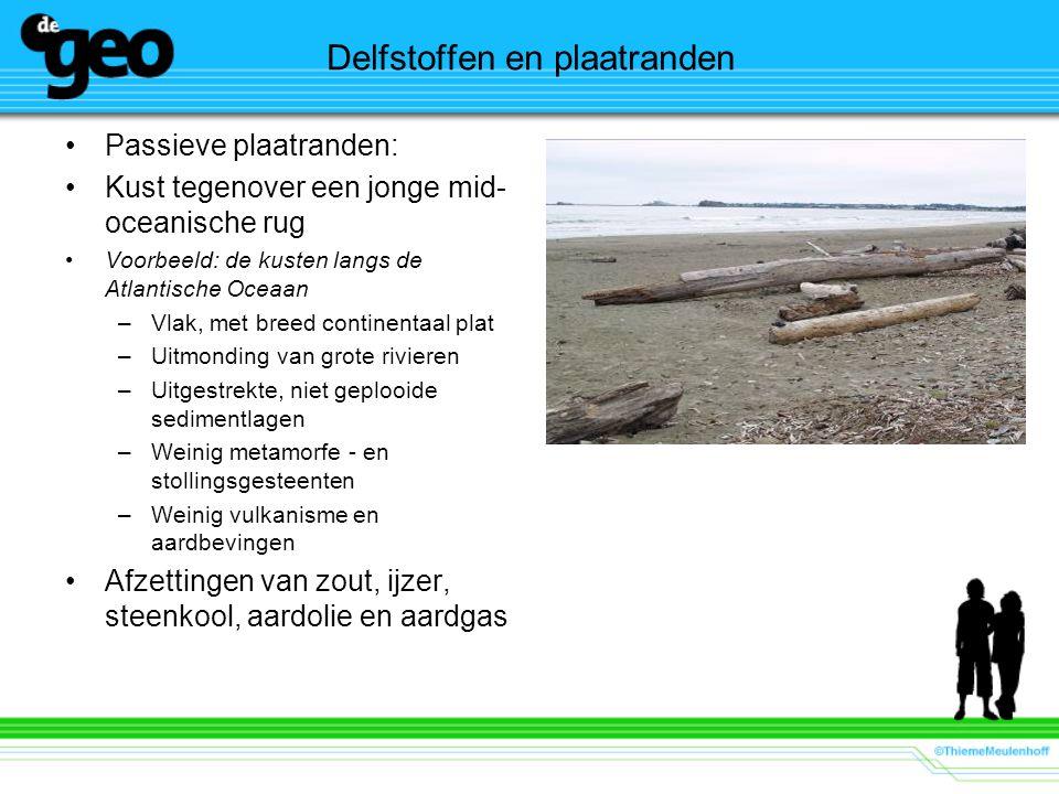 Delfstoffen en plaatranden