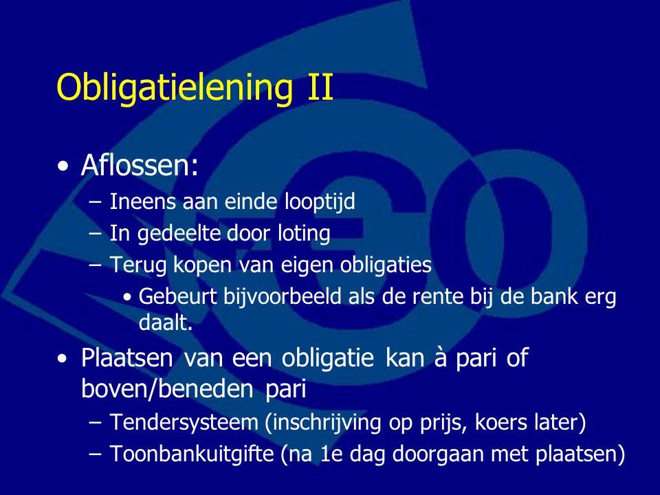 Obligatielening II Aflossen: