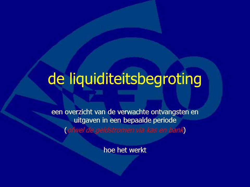 de liquiditeitsbegroting