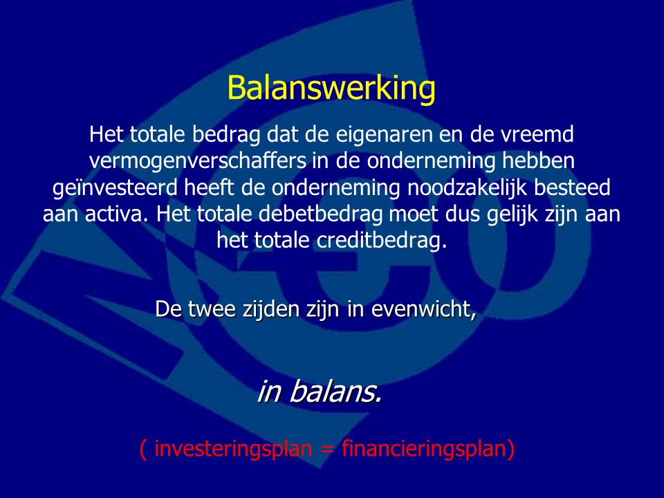 Balanswerking in balans.