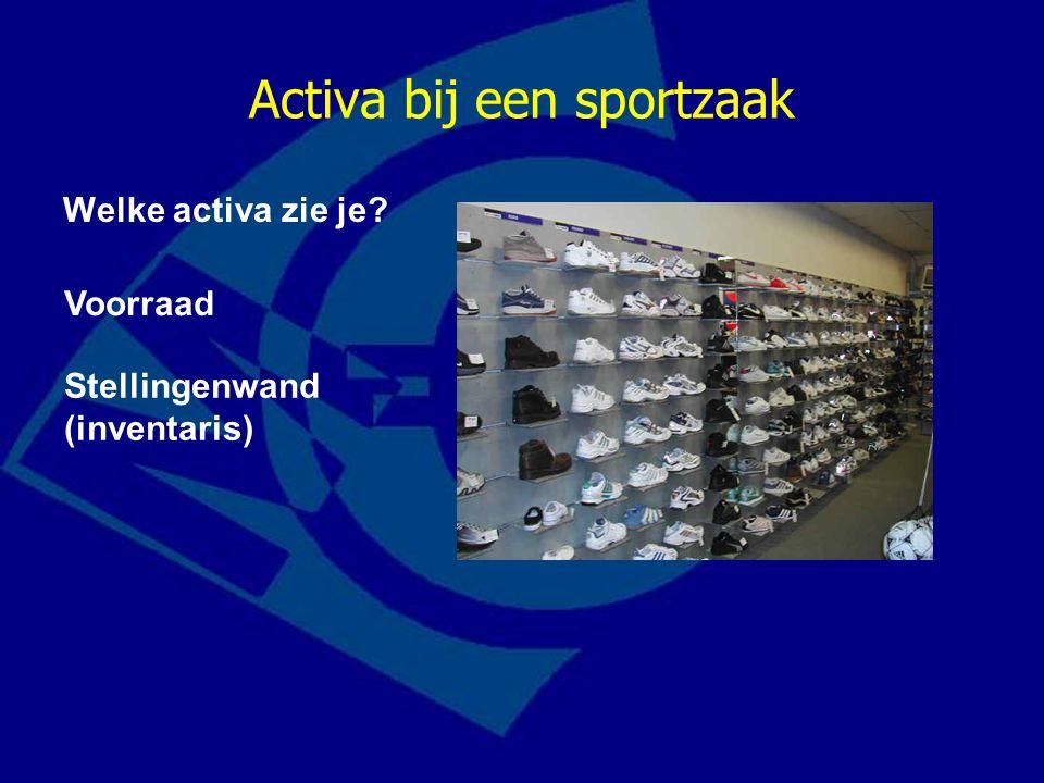 Activa bij een sportzaak